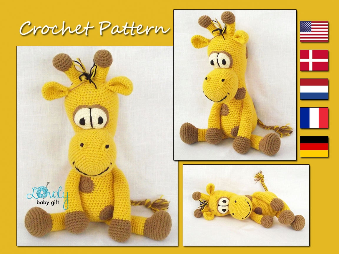 CROCHET PATTERN Amigurumi Giraffe Amigurumi Pattern