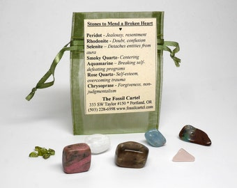 Stones to Mend a Broken Heart after a Breakup - Healing Pouch