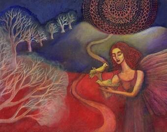 The Angel Trees greetings card.