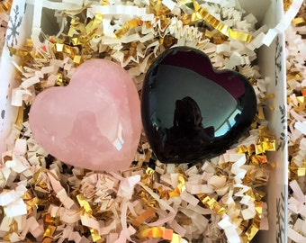 Protection Amulet for Love and Relationships / Gemstone Hearts
