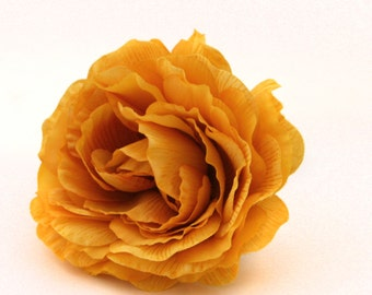 Golden Yellow Silk Ranunculus - Artificial Flowers