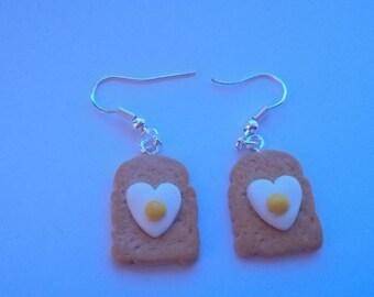 Egg & toast Earrings