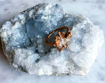 Arkansas Quartz Cluster Ring Size 8
