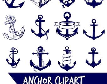 ANCHOR clip art, navy blue, anchor digital clip art, nautical, coastal, blue clip art, Instant download , clip art navy anchors, PNG anchors