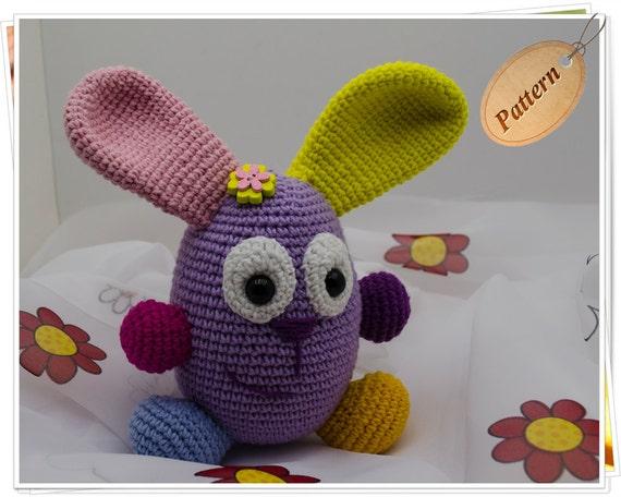 Amigurumi Rabbit Tutorial : Crochet bunny pattern amigurumi bunny pattern bunny pdf stuffed