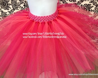 Hot Pink and Coral Tutu, Coral and Hot Pink Tutu, Hot Pink Tutu, Coral Tutu, Girls Tutu Skirts, Toddler Tutus, Tutu Skirts, Coral Tutus