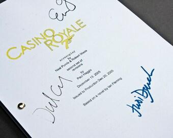 Casino Royale James Bond Film Movie Script with Signatures / Autographs Reprint Unique Gift Present Fan Geek 007 Daniel Craig Screenplay