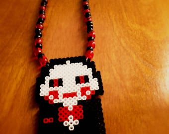 Saw Perler and Pony Bead Necklace