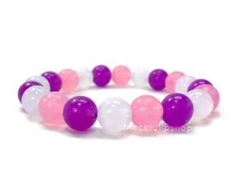 Fairy Kei Jewelry Stretch Bracelet Pink Purple Kawaii