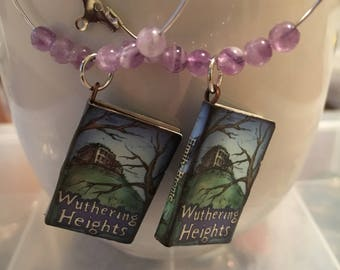 Book Earrings Wuthering Heights Book Charm Earrings