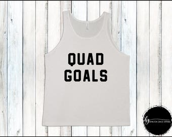 Quad Goals Men's Weight Lifting Shirt Men's Leg Day Shirt Men's Gym Tank Men's Workout Shirt Men's Lifting Shirt Men's Cutoff Gym Shirt