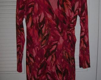 Dress 6 - 8 Bling, Cling, Low-Cut Blazing Colors Wrap  Dress!  by J Jill (A TV anchor dress )