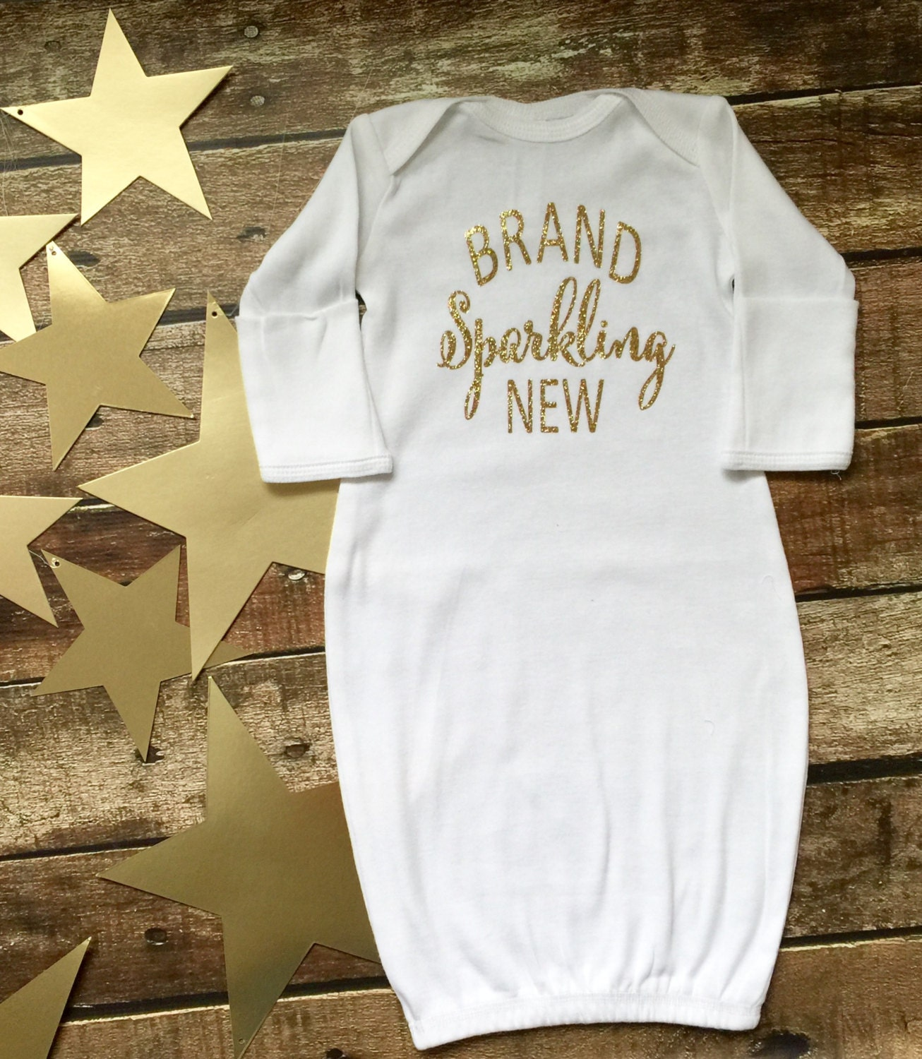 Custom Glittery Baby Gown, Baby gown, Bringing Home Baby Outfit ...