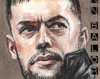 Finn Balor Copic Marker Drawing Art Print WWE Wrestling 11.7 x 16.5 inches Balor Club NJPW