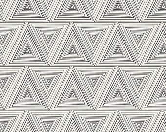 Modern Fabric, Minimalista Prisma in Noir, Art Gallery Fabrics, Fabric by the Yard, Quilting Cotton, Fat Quarters, Black and White Fabric