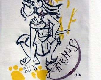 T Shirt with Artemis Design By  Aster Bell