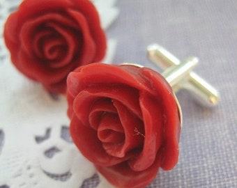 SPRING SALE Cufflinks rose. CHOOSE colour.