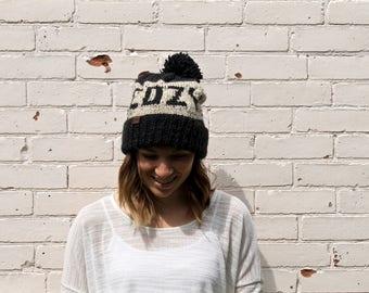 Cozy Beanie   Knit Winter Pom Pom Hat