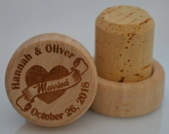 Personalized Wine Stoppers, Custom Wine Stopper, Engraved Wood Wine Stoppers,Customized Wine Cork, Wedding Party, Wedding Favor, Model 9