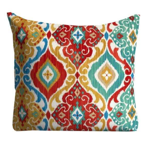 Red Blue Outdoor Pillows Throw Pillow Patio Pillows Outdoor