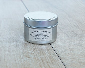 Success Ritual Candle - Spell Candle - 4oz All Natural Soy