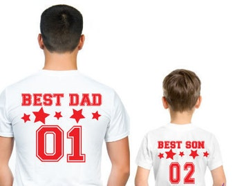Best dad best son/ Father and son matching T-shirts|  best dad and best matching T-shirts|Daddy and me |dad and son t-shirt|Daddy and son  b