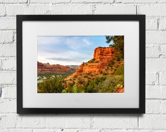 Sedona Red Rocks - Sedona Arizona - Print or Canvas -  Southwest Desert Home Decor Nature Landscape Photography Sedona AZ