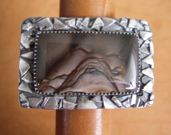 Biggs Jasper Ring Size 7 1/2