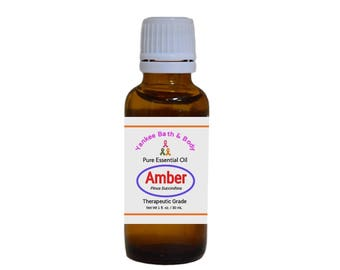 Amber Essential Oil Therapeutic Grade Free Shipping