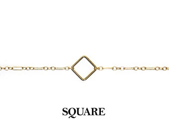 CH-SQ 14K Gold Filled Chains with Square shape, adjustable size