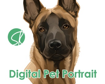 Custom Dog Pet Portrait Commission