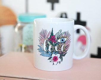 The eye of summer, tropical mug tea Mug