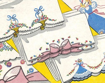 Southern Belle - Crinoline Bows & Baskets pillowcase embroidery pattern V146