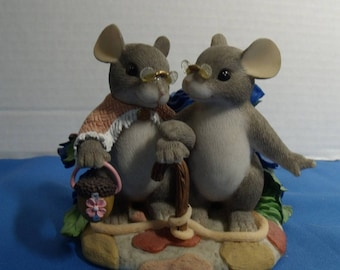 Charming Tails 2 mice My Love For You Will Never Grow Old - #89/138 Fitz & Floyd
