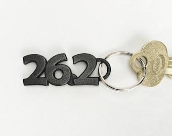 Marathon Runner Gift 26.2 Inspiration Running Keychain, Marathon Keyring Motivation and Celebration Gift