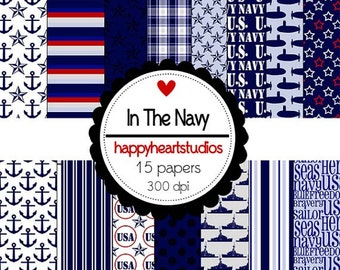 Digital Scrapbook InTheNavy-INSTANT DOWNLOAD