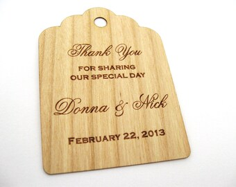 Personalized Wedding Tags, Gift Tags, Wooden Tags, Wedding Favor Tags, Gift Tags, Hang Tags, Wood tags, Custom tags