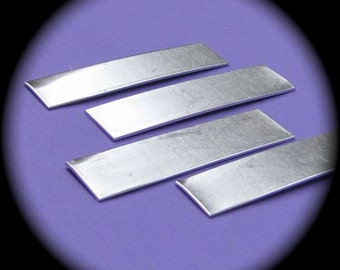 "100 RAW Blanks 1/2"" x 2"" Rectangles  14 Gauge Heavy Weight Food Safe Aluminum - 100 Blanks"