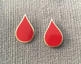 Leukemia & Lymphoma Society Blood Drop Logo Lapel Pins - PACK OF TWO, free shipping!