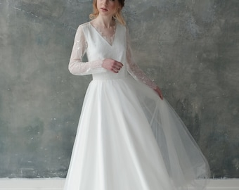 "Wedding dress  ""White roses"""