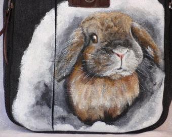 Canvas Messenger Travel Bag 'Claire' the Bunny