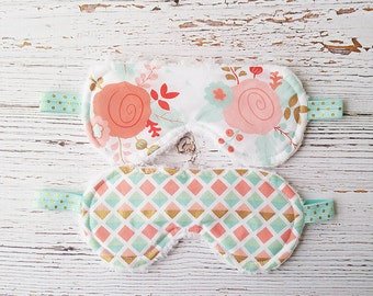 Sleep Mask - Teacher Gifts - Party Favor - Gifts for Her - Travel Mask - Eye Mask - Travel Mask - Spa Night Gift