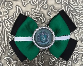 Slytherin Inspired Hair Bow