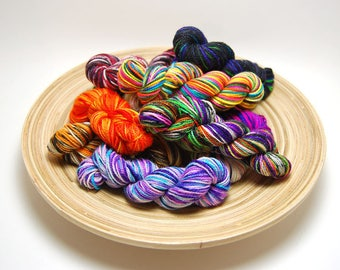 Acoustic Sock Yarn Mini Skein Yarn Kit - 400 Yards - Superwash Merino Nylon