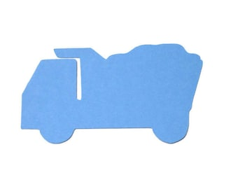 Dump Truck Paper Die Cuts set of 12
