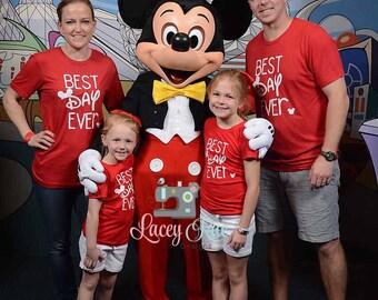 Best Day Ever Disney Shirts, Family disney shirts, Ladies, mens and youth tee, Disney shirt, Matching Disney Shirt, Magic Kingdom, Epcot