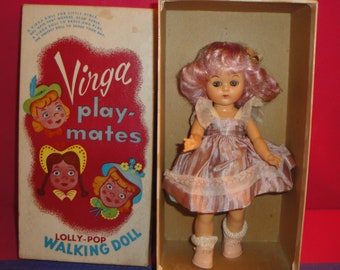 Virga Play-Mates Lolly-Pop Walking Doll Orchid in Original Outfit and Box
