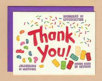 Candy Thank You Card