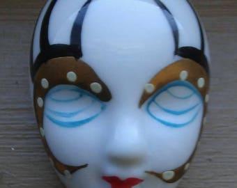 Clearance/Destash Harlequin Clown Face Lady's Pin Brooch