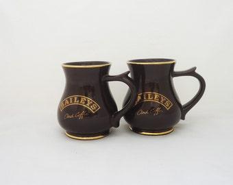 Vintage Pair of Irish Coffee Mugs, Baileys and Coffee Mugs, Ceramic Irish Coffee Mugs